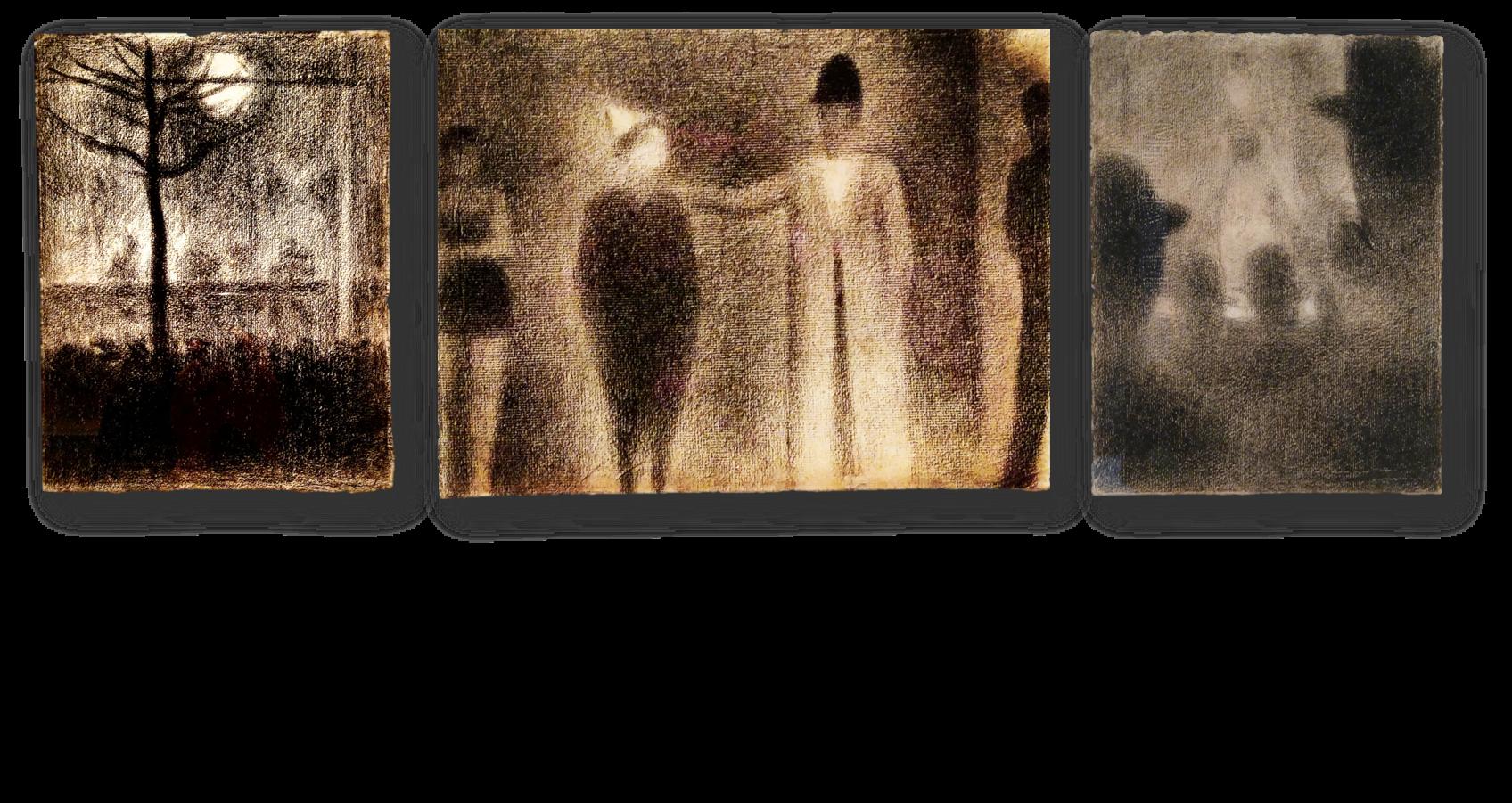 Georges Seurat: Técnica Conté
