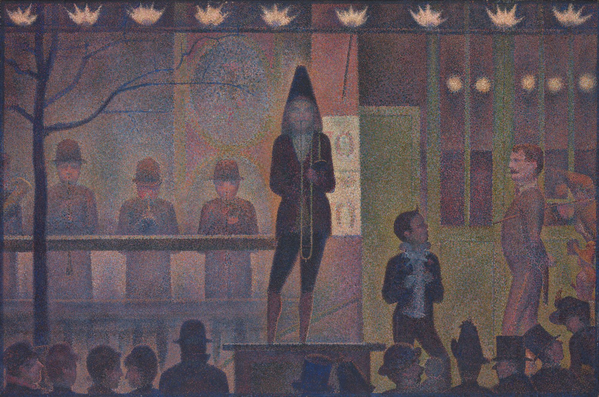 ´Circus Sideshow´ (Parade de cirque) de Georges Seurat